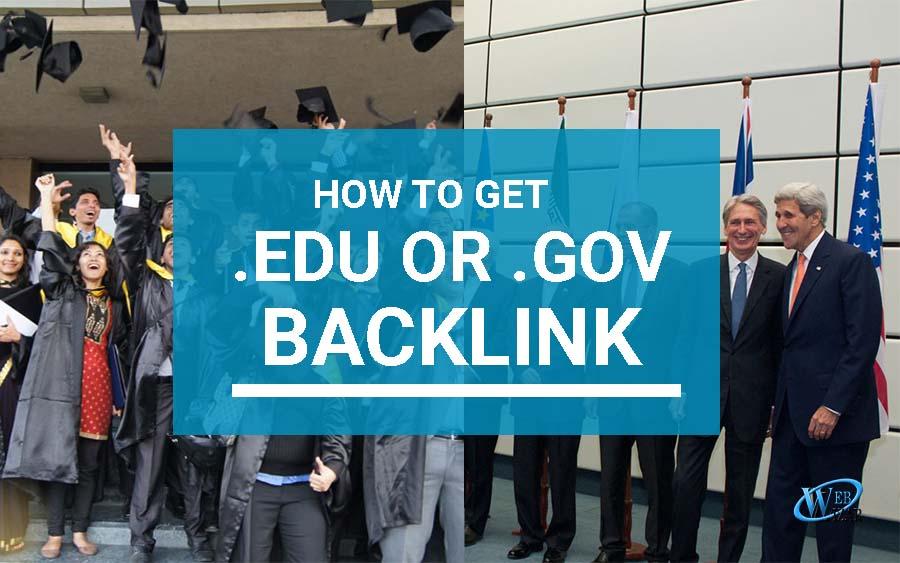 top ways to make .edu and .gov backlinks