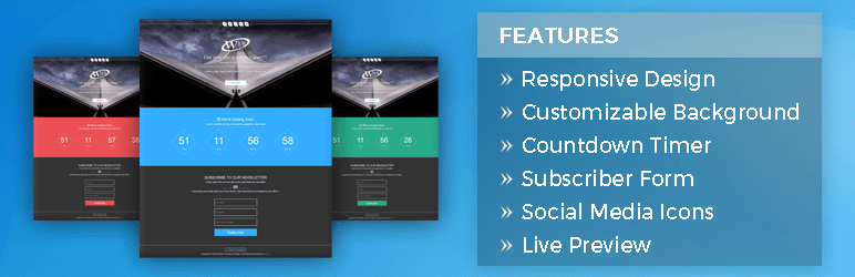 Responsive Coming Soon Page Plugin