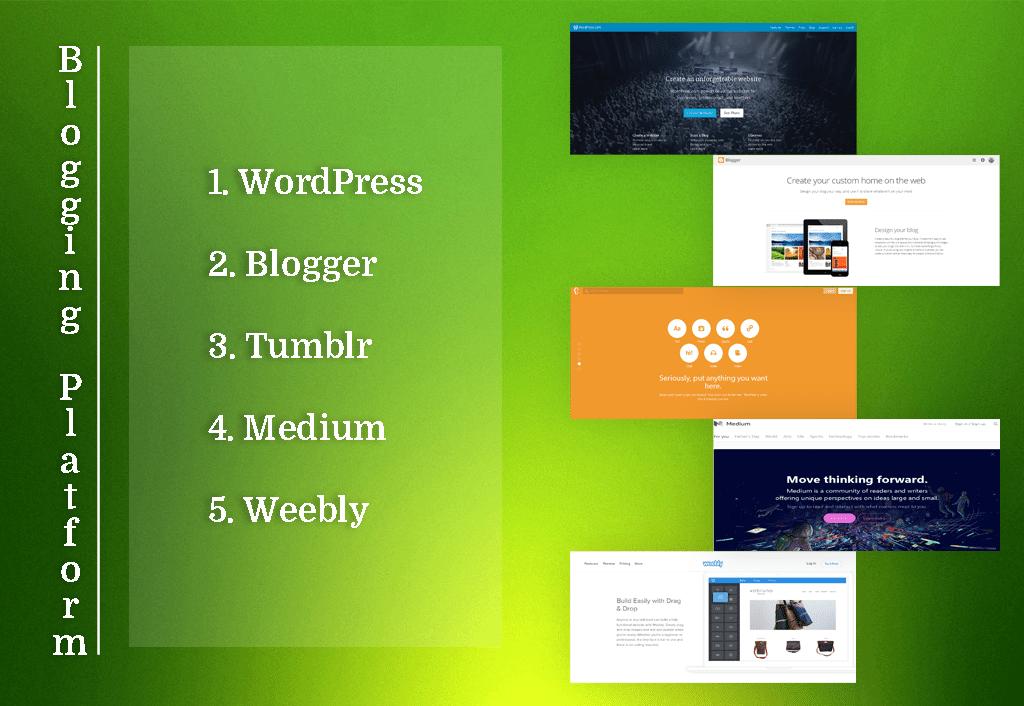 Top 5 Blogging Platform On Internet 2016