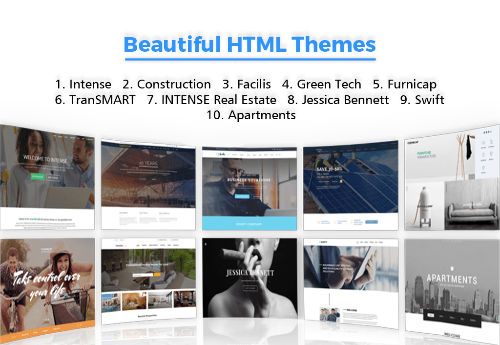 10 Beautiful HTML Themes 2016