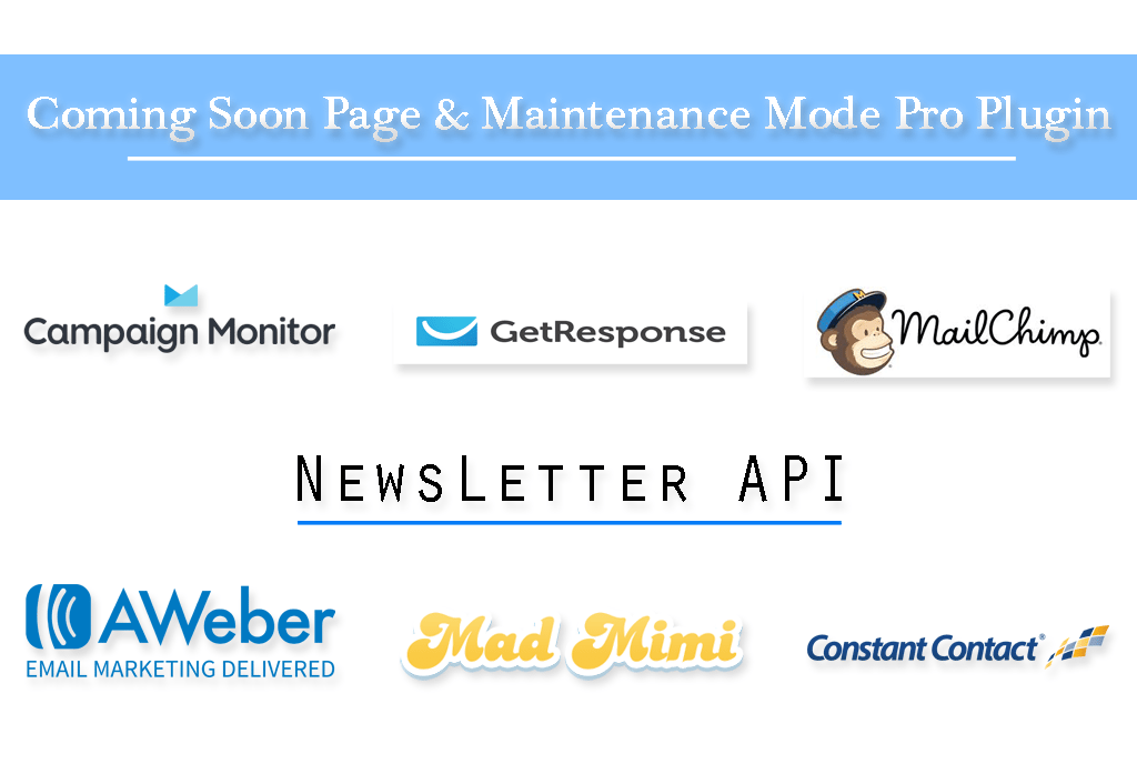 Newsletter API with Coming Soon Pro Plugin