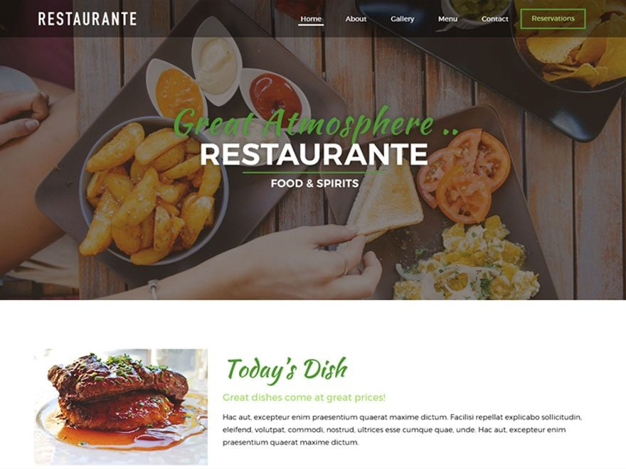Best Free Restaurant WordPress Theme