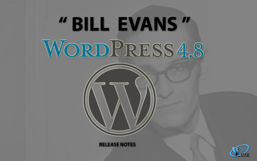 "Latest WordPress Update – ""Bill Evans"" 4.8"
