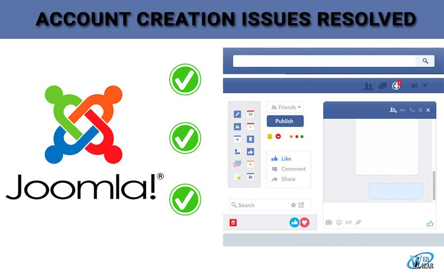Account Creation Issues Resolved Through Joomla