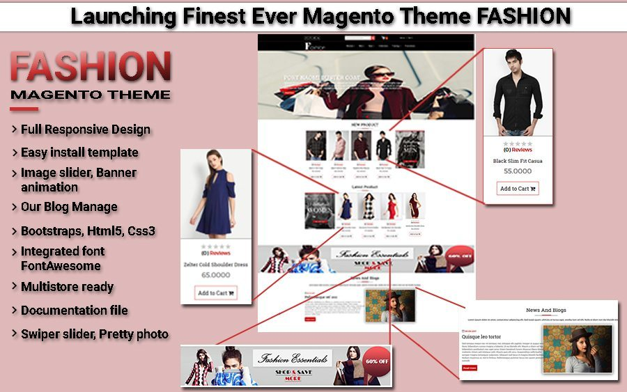 Launched Finest Ever Fashion Theme On Magento 2.0