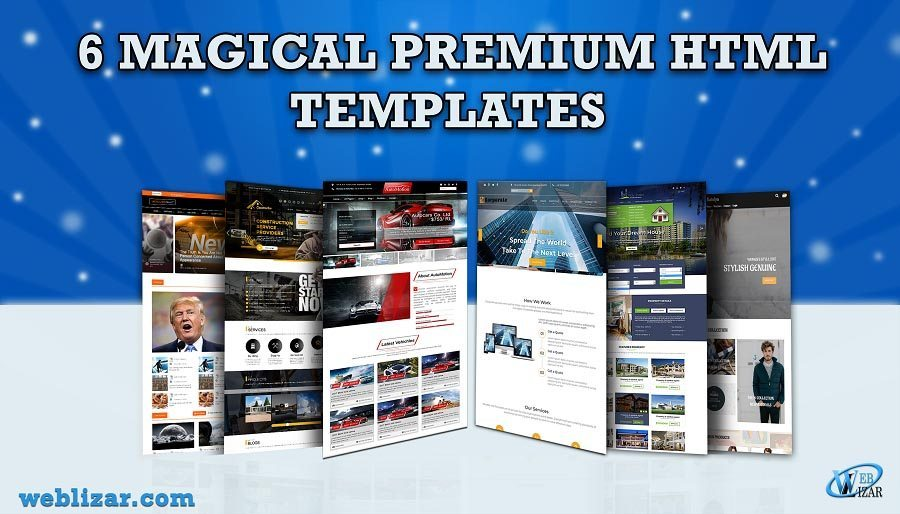 Weblizar Premium HTML Website Templates Launched