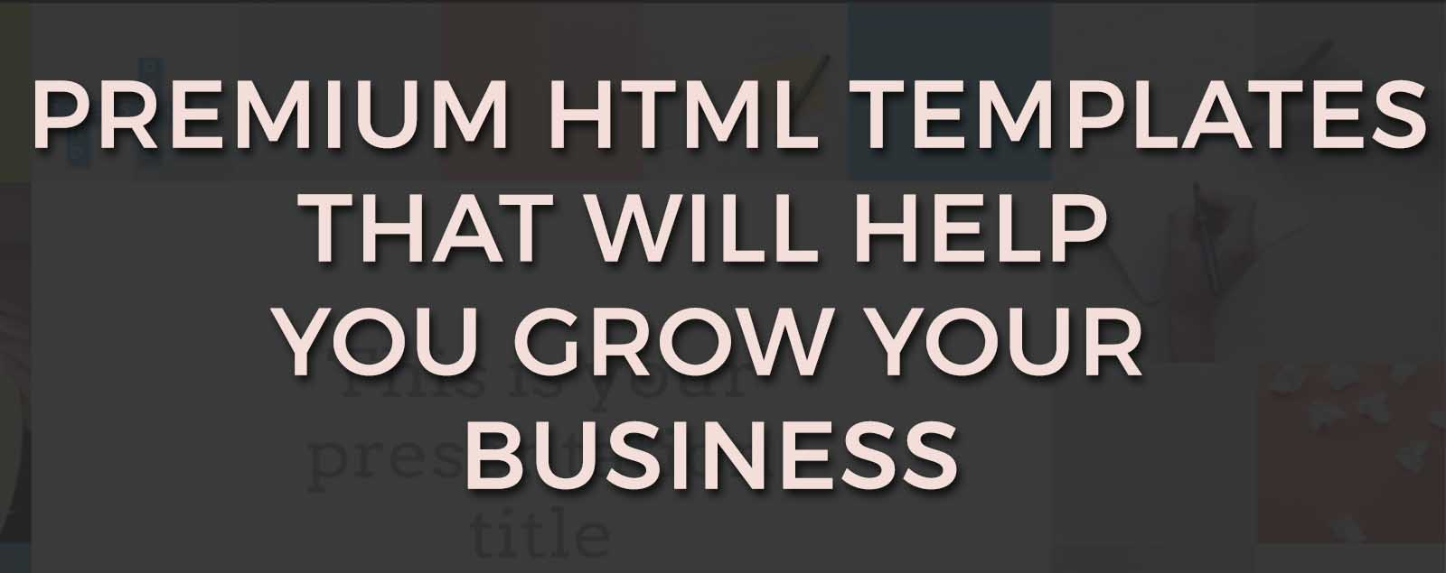 Premium HTML Templates To Grow Your Business Exponentially- Weblizar
