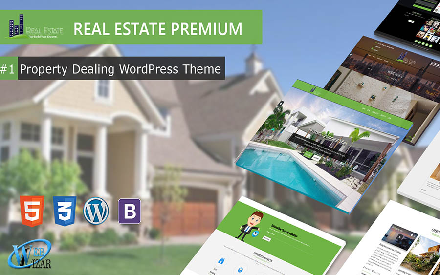 2018 Top Selling Real Estate WordPress Premium Theme From Weblizar