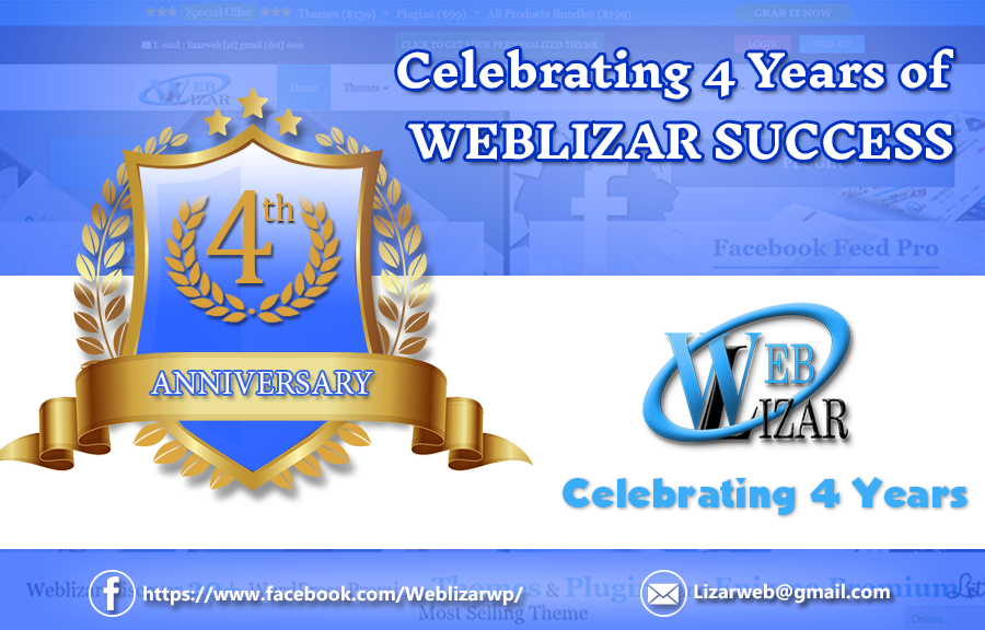 Celebrating successful 4th year of weblizar