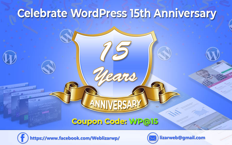 On  WordPress 15th Anniversary ,  Gift for You