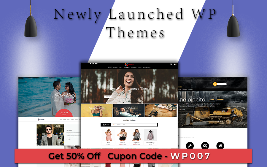 Today Weblizar Launch E-commerce, Construction & Wedding Premium WordPress Themes