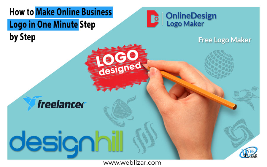 Make Online Business Logo One Minute Step Step