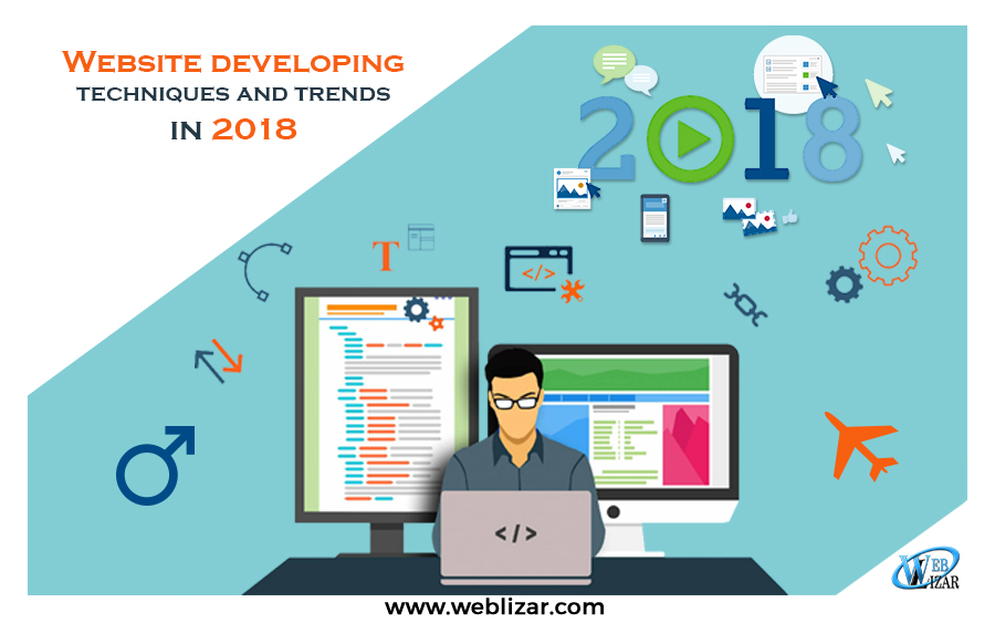 Website developing techniques and trends in 2018