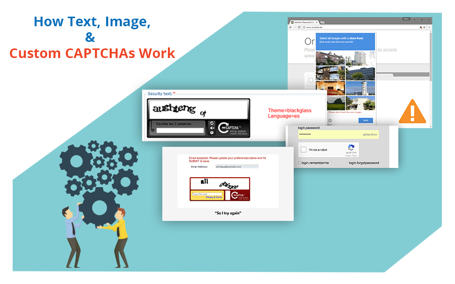 How Text, Image, and Custom CAPTCHAs Work