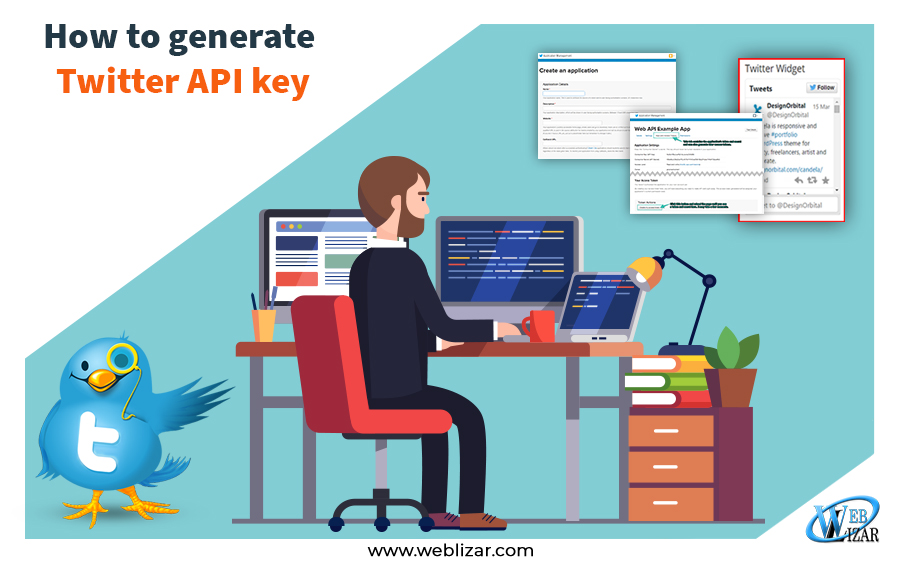 How to generate twitter API key Consumer API keys, Access token