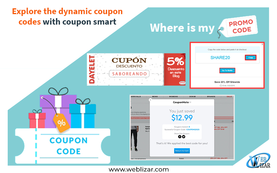 Explore the dynamic coupon codes with coupon smart