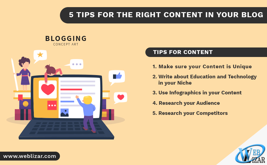 5 TIPS FOR THE RIGHT CONTENT IN YOUR BLOG