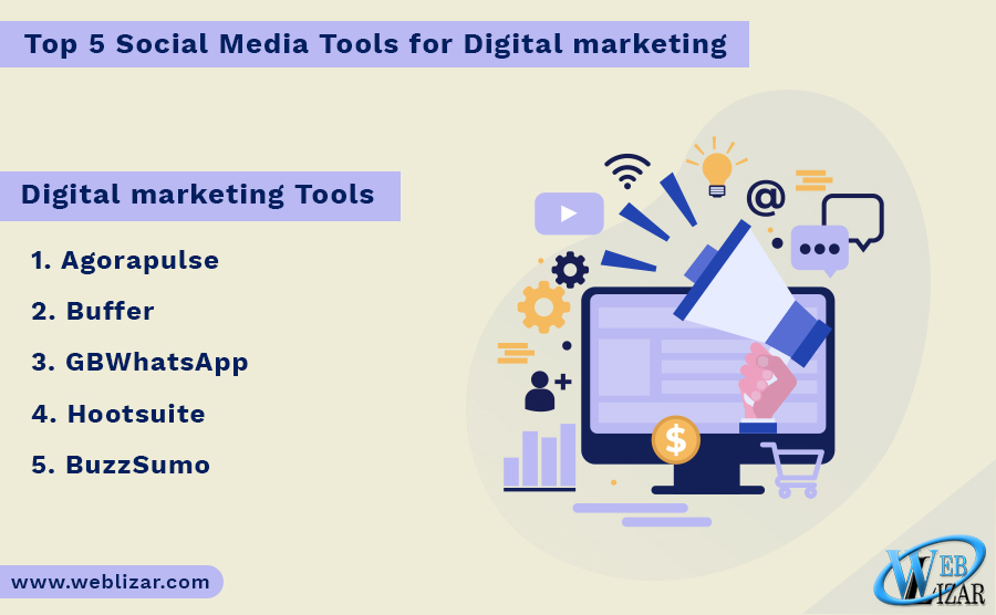 Top 5 Social Media Tools for Digital marketing