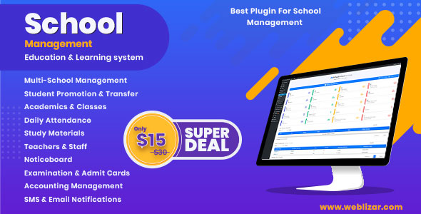 School Management – Education & Learning Management system for WordPress