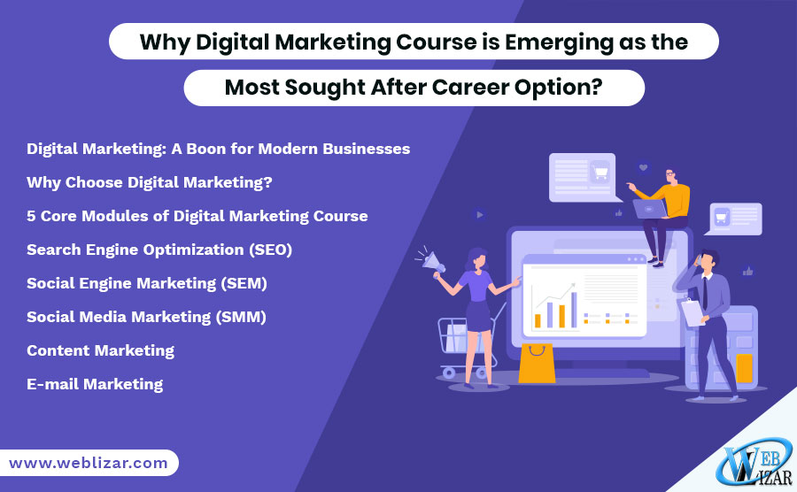 Why Digital Marketing Course is Emerging as the Most Sought After Career Option?