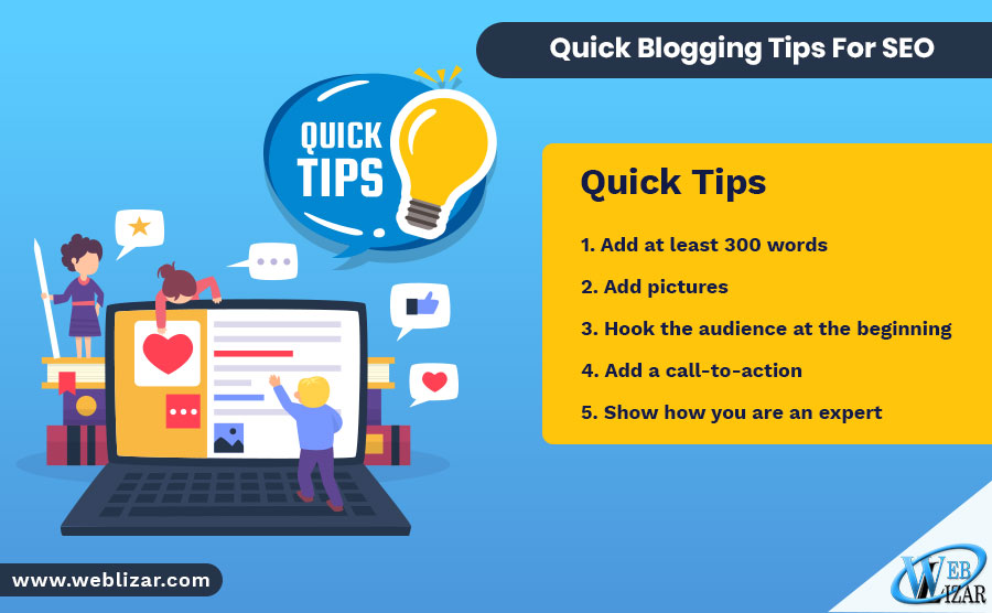 Quick Blogging Tips For SEO