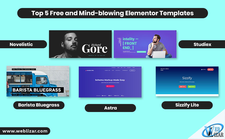 Top 5 Free and Mind-blowing Elementor Templates