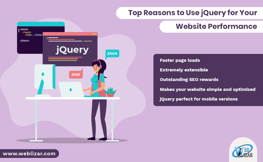 Top Reasons to Use jQuery for Your Website Performance