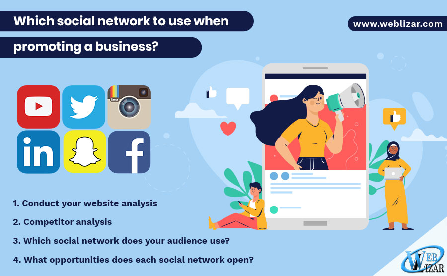 Which social network to use when promoting a business?