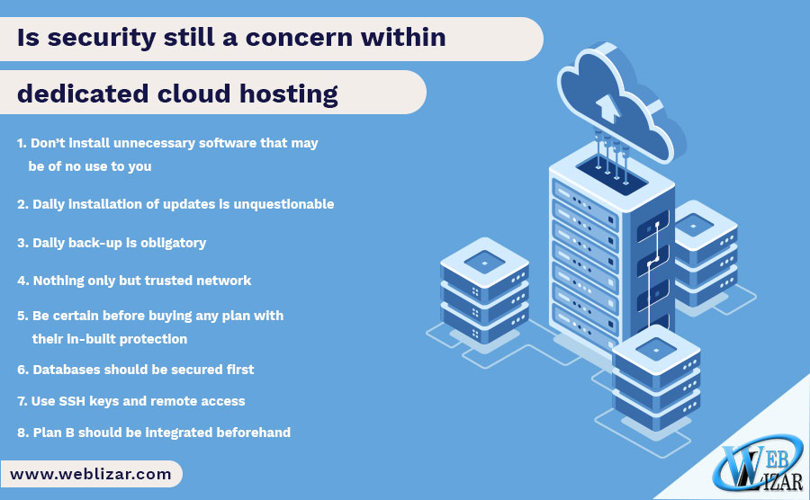 Is security still a concern within dedicated cloud hosting