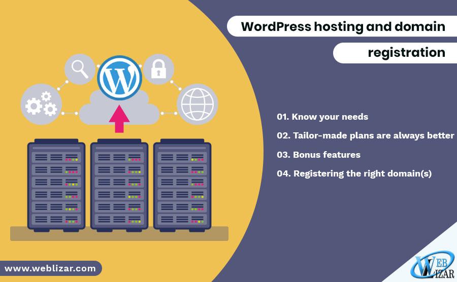 WordPress hosting and domain registration