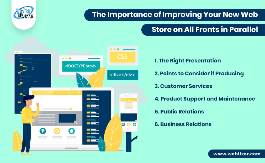 The Importance of Improving Your New Web Store on All Fronts in Parallel
