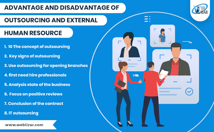 Advantage and Disadvantage of Outsourcing and External Human Resource
