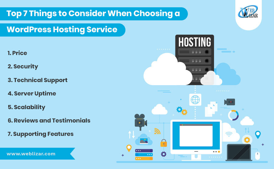 Top 7 Things to Consider When Choosing a WordPress Hosting Service