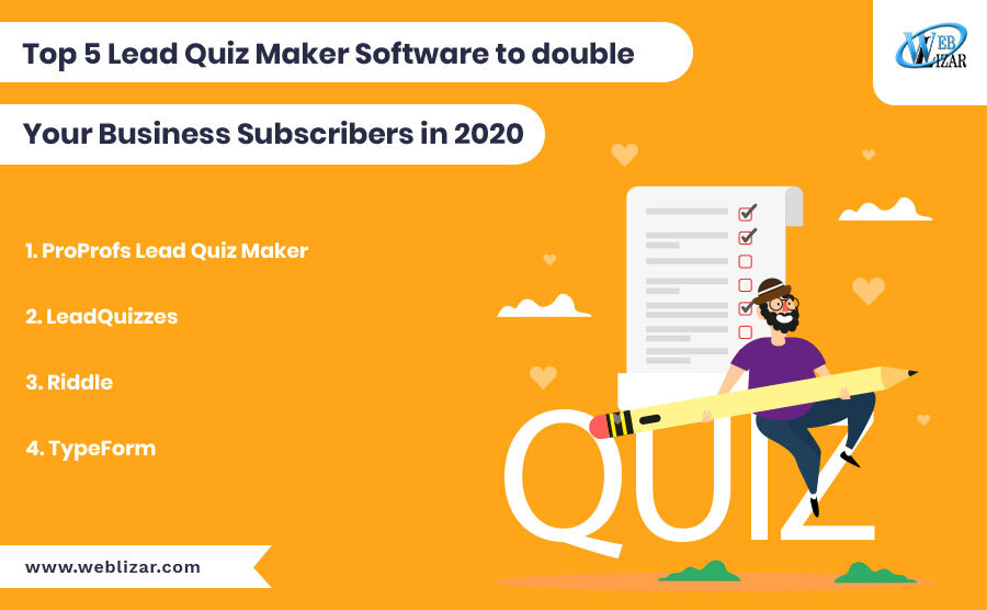 Top 5 Lead Quiz Maker Software to double Your Business Subscribers in 2020