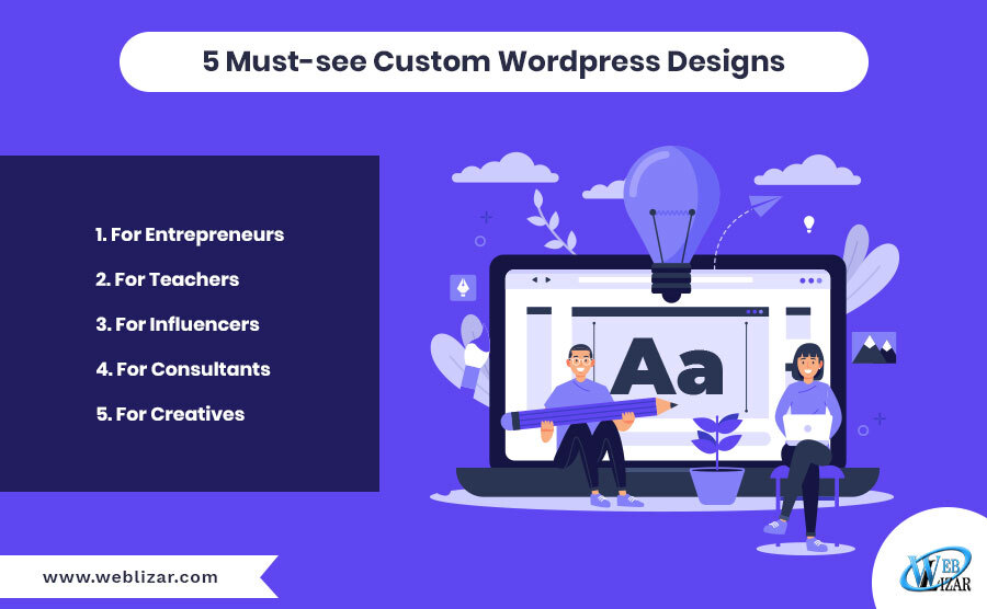 5 Must-see Custom WordPress Designs