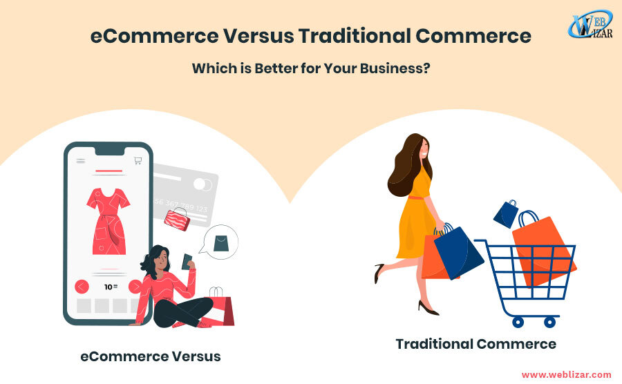 eCommerce-Versus-Traditional-Commerce business