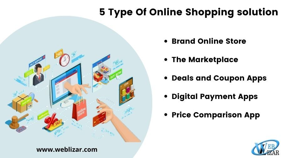 5 Type Online Shopping Solution