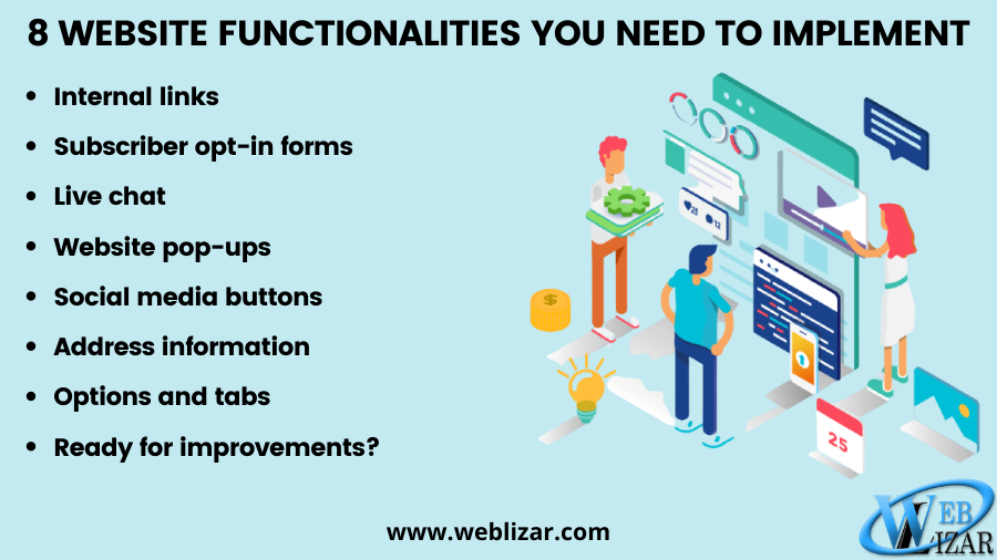 8 Website Functionalities You Need To Implement