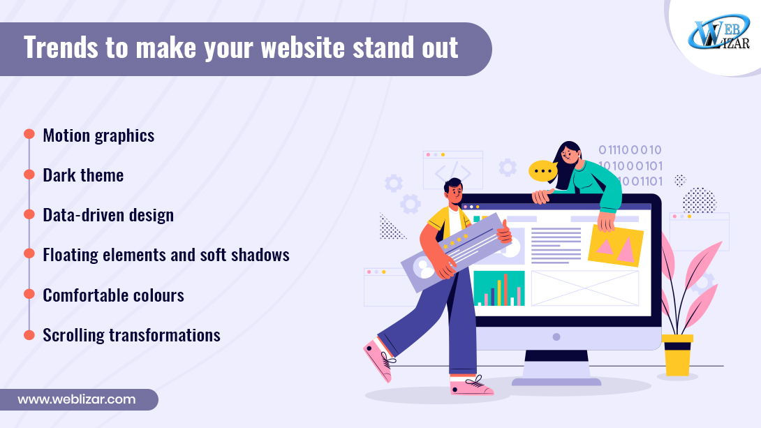Trends to make your website stand out