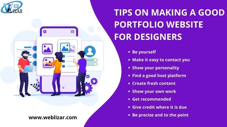 TIPS ON MAKING A GOOD PORTFOLIO WEBSITE FOR DESIGNERS