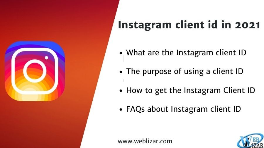 How to get an Instagram client ID in 2021?