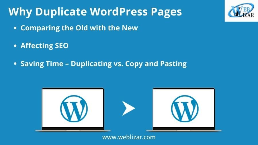Why Duplicate WordPress Pages?