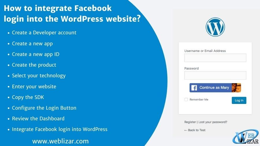 How to integrate Facebook login into the WordPress website?