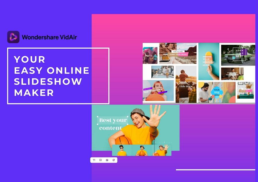 Wondershare VidAir: The Best Online Slideshow Maker