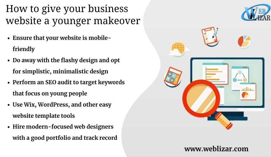 How to give your business' website a younger makeover