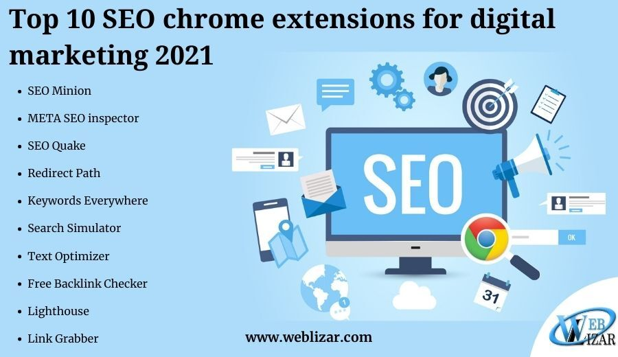 Top 10 SEO chrome extensions for digital marketing 2021
