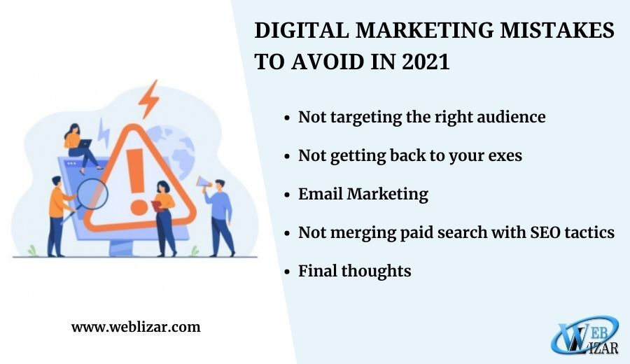 Digital Marketing Mistakes to Avoid in 2021