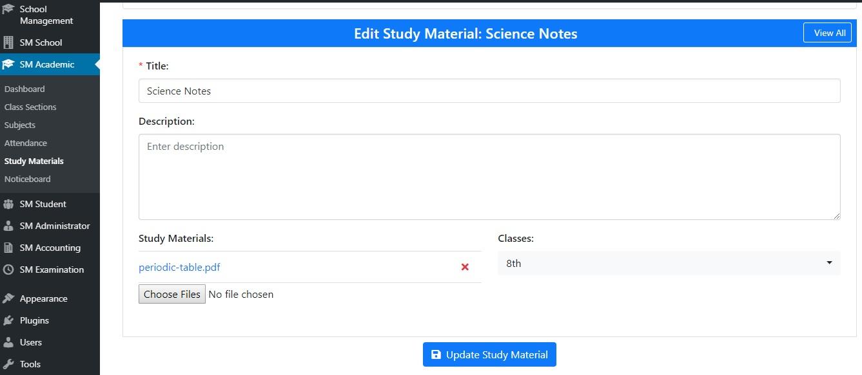 Add Study Materials
