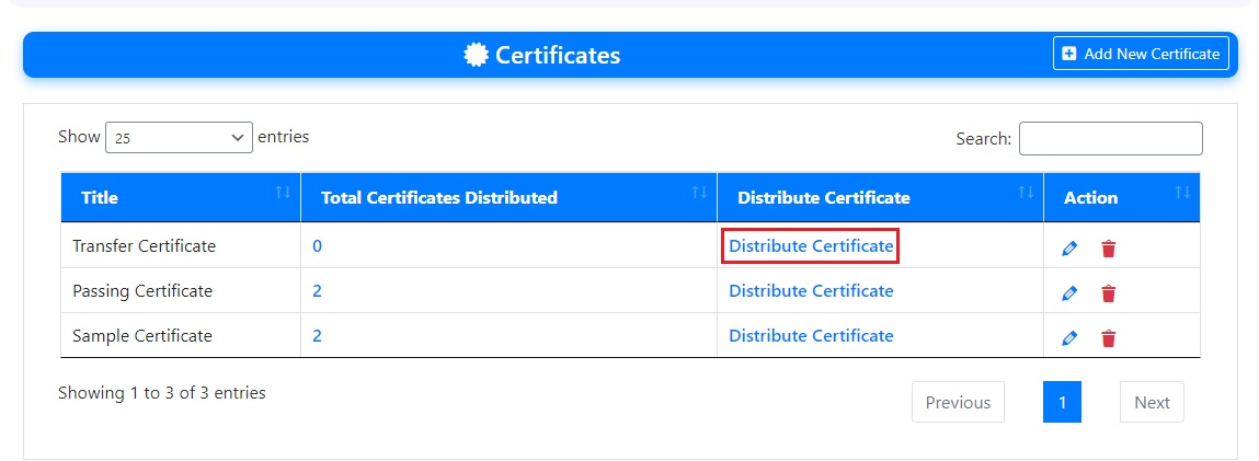 Distribute Certificate