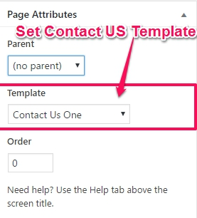 Contact-template